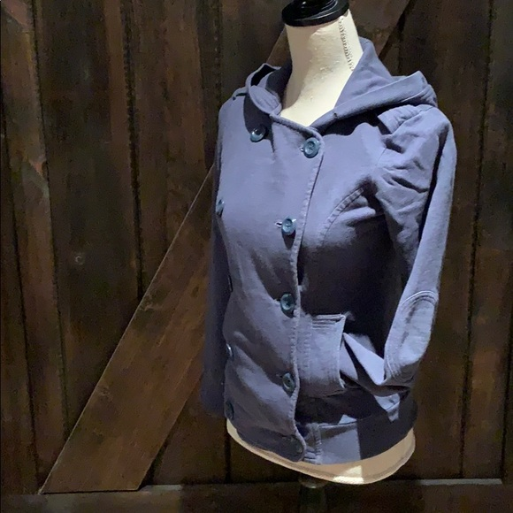 Talula blue button down hoodie